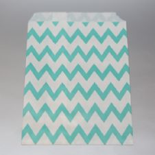 Dark mint Chevron Party bitty bags Set of 25/ Σκούρο mint ζικζακ χαρτινα σακουλακια Σετ των 25